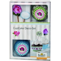 BIRKMANN Set decorazione Cup Cake Rose