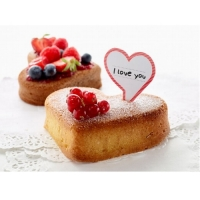 LEKUE Heart Cake Portion