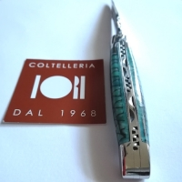 """Coltello pieghevole """"Paper Waves"""" 10 cm LAGUIOLE en AUBRAC"""
