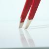 Pinzetta inox punte diagonali rossa RUBIS