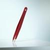 RUBIS Pinzetta inox punte diagonali rossa