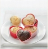 BIRKMANN Set 4 stampi in silicone per muffin a forma di cuore