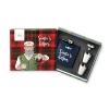 "Set regalo fiaschetta + 2 bicchieri grappa ""Hipster Santa"""