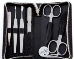Set manicure 6 pezzi inox ALPEN